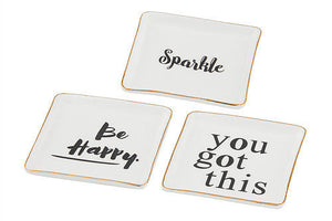 Happy Trinket Plates - 2 Designs