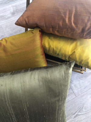 Assorted Raw Silk Cushions - Square - Set/4