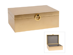 Nobes Lacquered Gold Box - Large