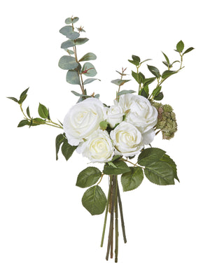 Rose and Eucalyptus Bouquet - White