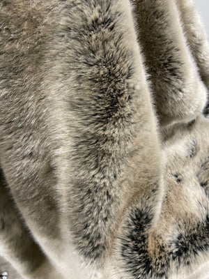 Tissavel Volga Faux Fur Silver Throw - 150cm x 180cm