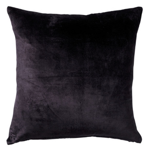 Black Velvet Cushion - Square
