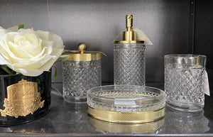 Nola Gold Glass Bathroom Set