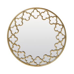 Walker Quatrefoil Wall Mirror - Gold - 78cm