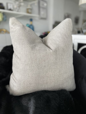 Oran Textured Linen Cushion - Grey - 55cm x 55cm