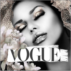 Vogue Femme Framed Canvas Print - 812mm x 812mm