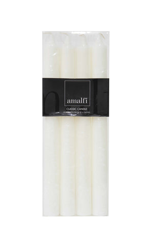 Classic White Dinner Candles Set/4