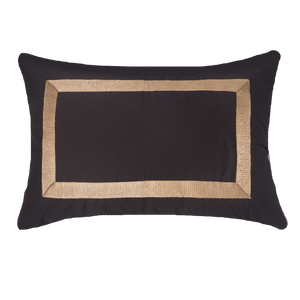 Braid Lumbar Cushion - Black Gold - 35 x 53cm