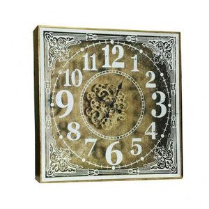Chateau Gear Wall Clock - Square - 80cm