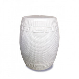 Athena Ceramic Stool - White