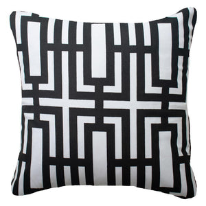 Jade Screen Lounge Cushion - Black - 55cm