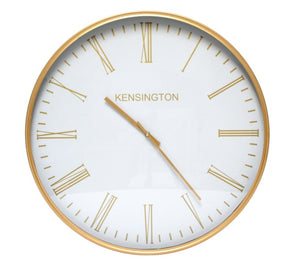 Kensington White Wall Clock - 60cm