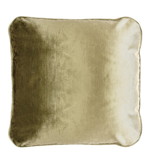 Coco Piped Velvet Cushion - Vintage Gold