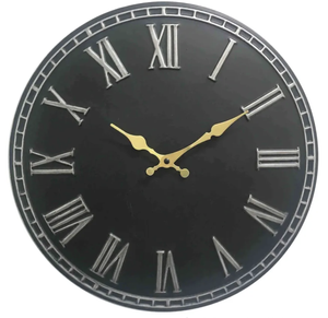 Thompson Black Wall Clock - 40cm