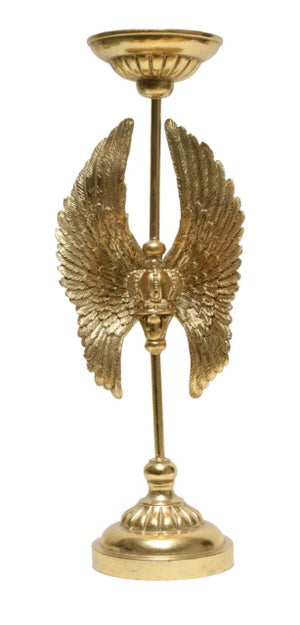 Safari Wings Candlestick Set/2 - Gold