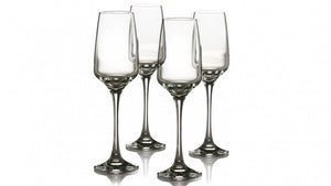 Firenze Flute - Set of 4 Clear Glass
