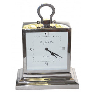 Stepped Mantle Clock - Nickel