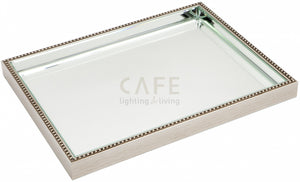 Zara Mirror Tray - Antique Silver - Large