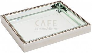 Zara Mirror Tray - Antique Silver -  Medium