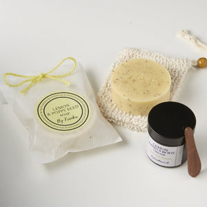 Load image into Gallery viewer, Lemon Gift Set - Lemon & Poppyseed Soap & Lemon Cream (*Vegan)