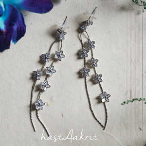 DITSY TWIN FLORAL Drop Earrings