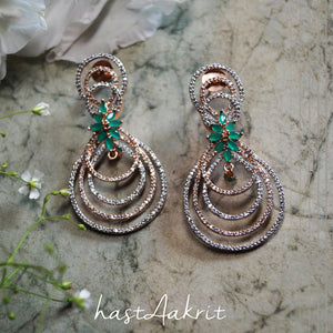 BELLO GREEN STONE EARRINGS