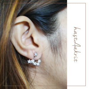 6-PRONG PLATINUM PLATED STUDS