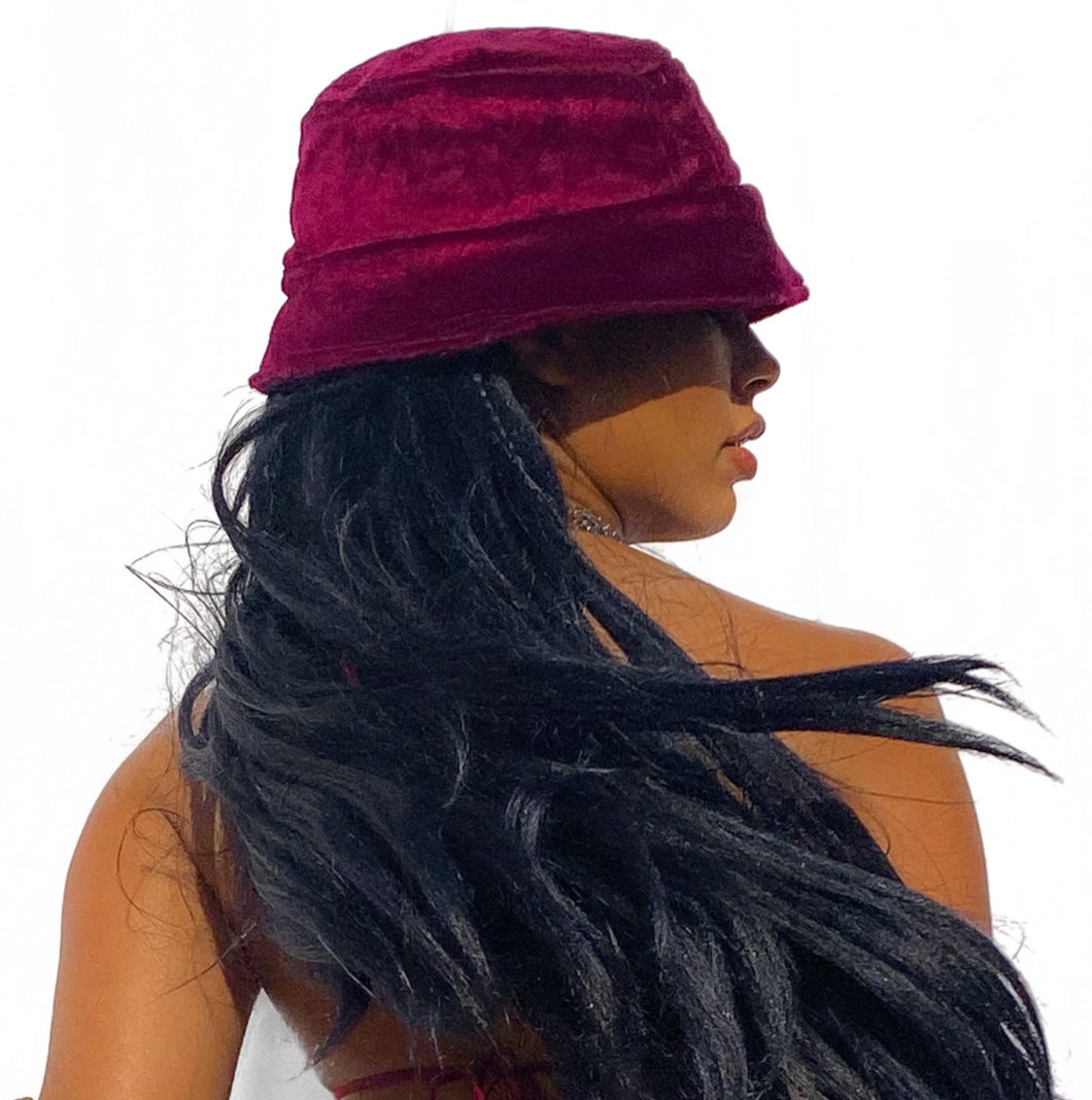 Beatrix Bucket Hat - Burgundy