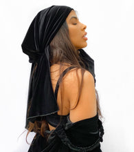 Load image into Gallery viewer, Reign Velour Scarf - Black