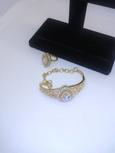 Golden Bracelet and Ring