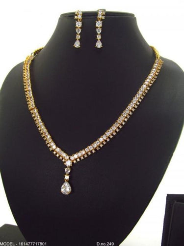 Full Gold Stone Necklace