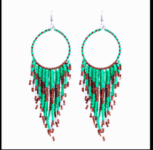 Load image into Gallery viewer, Multicolor Beads Tassel Earrings