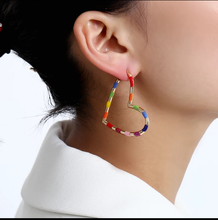 Load image into Gallery viewer, Rainbow Hoop Earrings