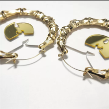Load image into Gallery viewer, Hyperbole Bamboo Large Hoop Earrings