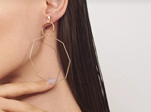 Load image into Gallery viewer, Polygon Dangle Drop Earrings
