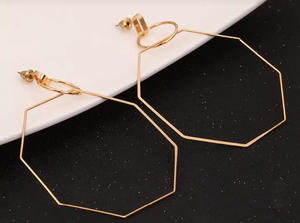 Polygon Dangle Drop Earrings