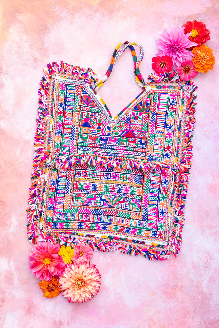 Vintage Embroidered Rabari Bag