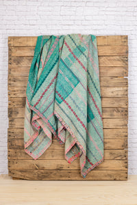 Kantha Blanket Pink + Orange