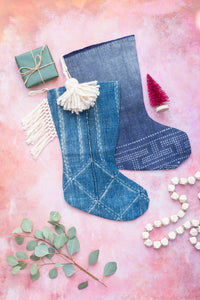 Indigo Christmas Stockings