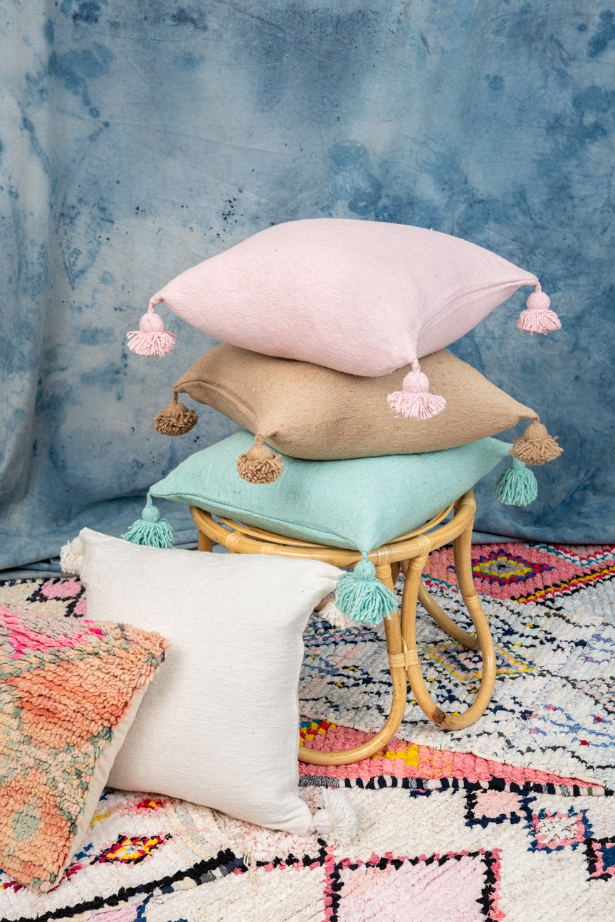Cotton Tassel Pillow Collection