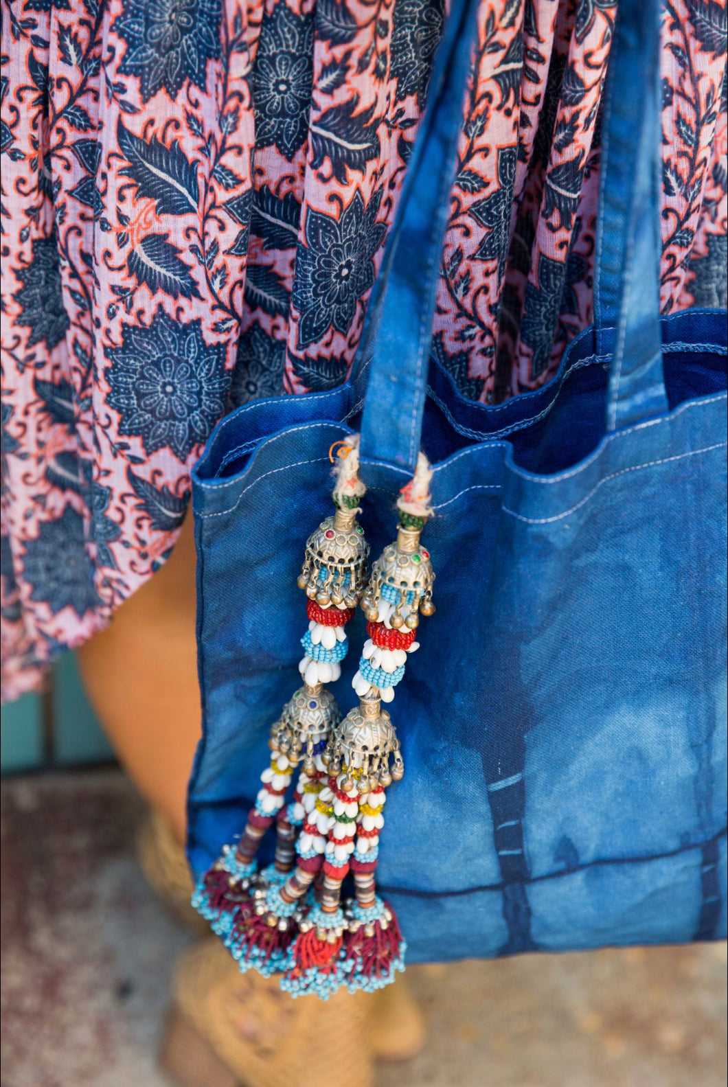 Vintage Indian Beaded Tassels