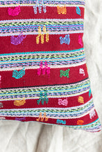 Load image into Gallery viewer, Reversible Vintage Mayan Huipil Pillow