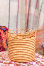 Load image into Gallery viewer, Handwoven Planter Basket Blush Ring