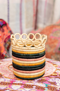 Handwoven Planter Basket Stripe Ring