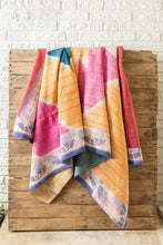 Load image into Gallery viewer, Kantha Quilt #92 Pink Triangle Tie Dye