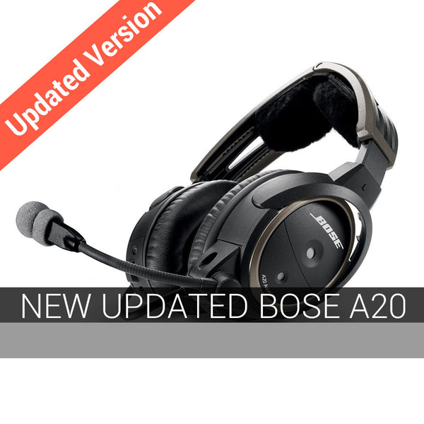 NON-Bluetooth Bose A20 Aviation Headset GA, Coiled Cord (Special Order)-Bose-Downunder Pilot Shop Australia
