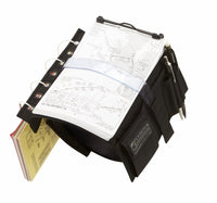 Flyboys KneeBoard with Eyelets & Clipboard - Black-FlyBoys-Downunder Pilot Shop Australia
