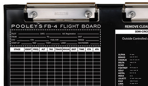 Pooleys FB-4 Flight Board-Pooleys-Downunder Pilot Shop Australia