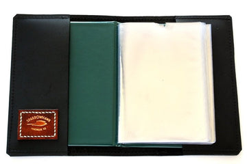 Sparrowhawk CASA (Australia) Licence Folder Cover - Black Aniline Leather - Embossed
