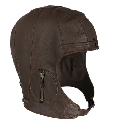 Rothco WWII Style Leather Pilots Helmet - Brown